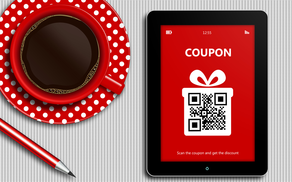 Food Coupon on Tablet