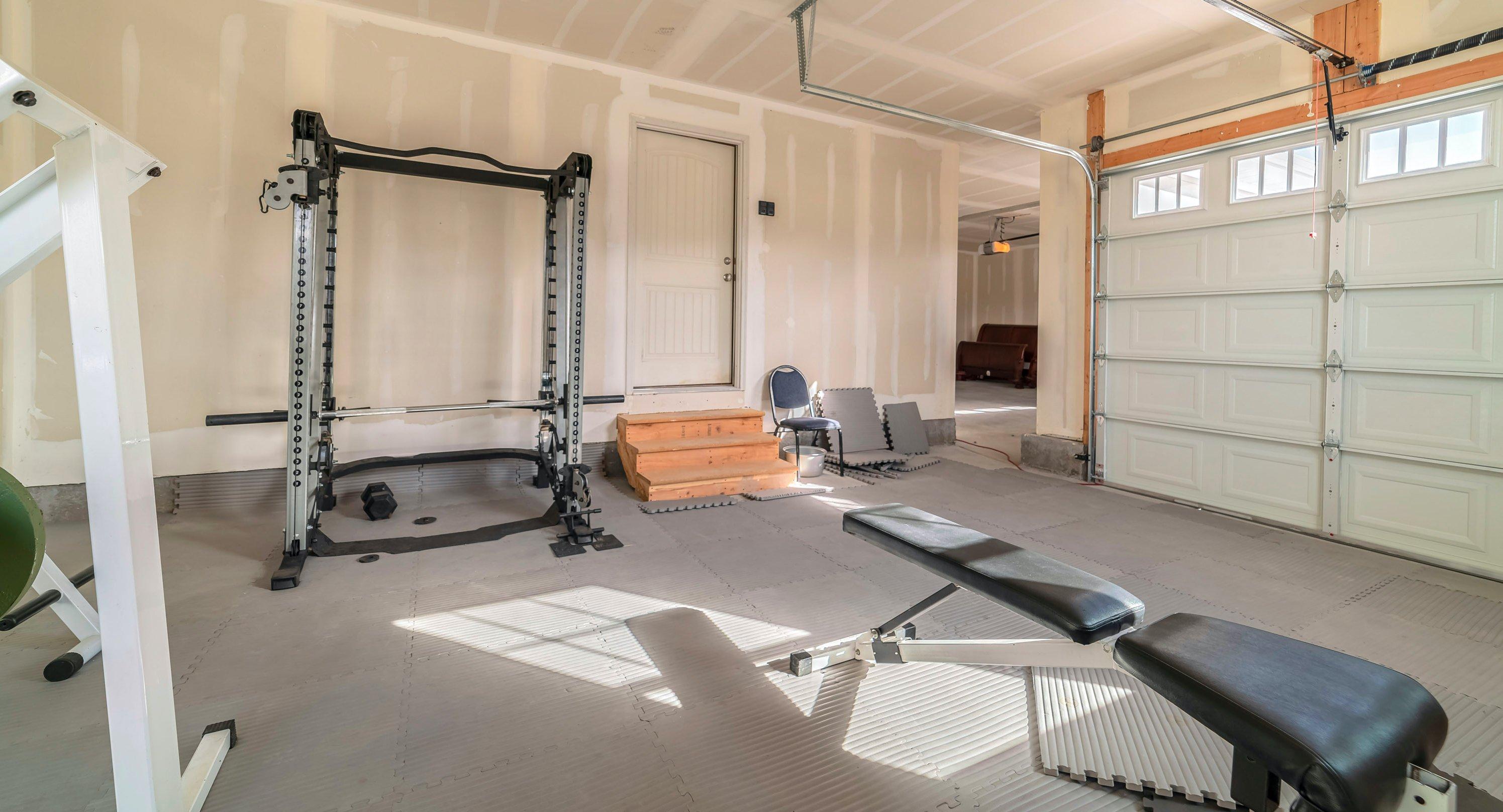 Gym in garage space