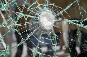 Cracked Impact Glass