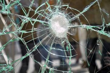 Cracked Impact Glass