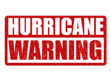 Hurricane Warning Sticker