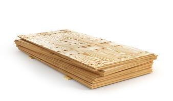Sheets of plywood