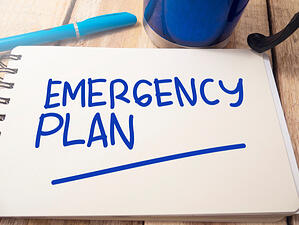 emergency plan written on paper