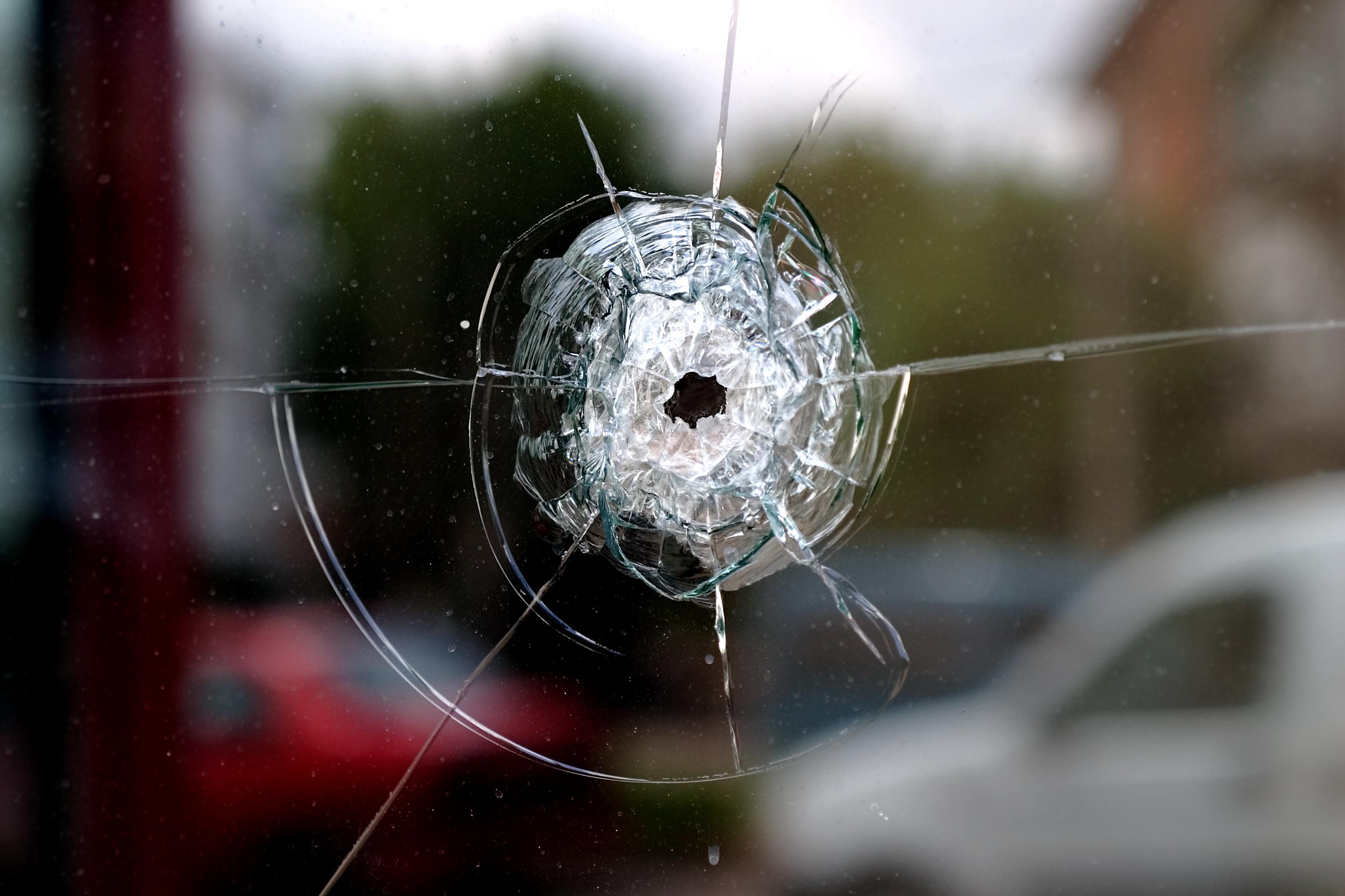 Bullet in window