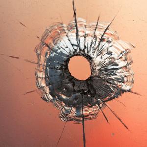 bullet piercing glass