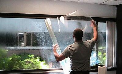hurricane window film
