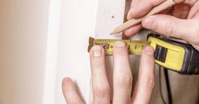 measure impact front door jam