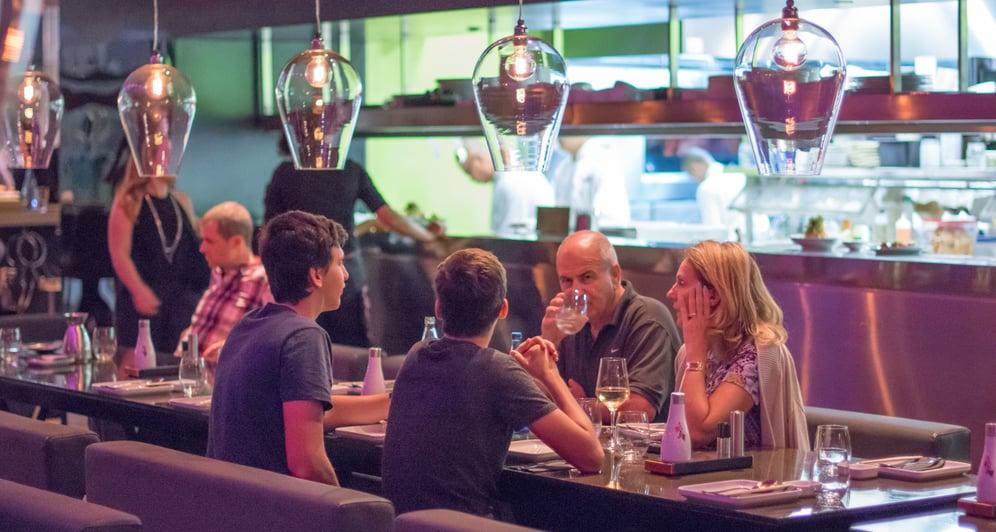 Open concept restaurant