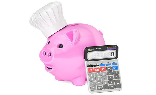 Piggy Bank With Chef Hat
