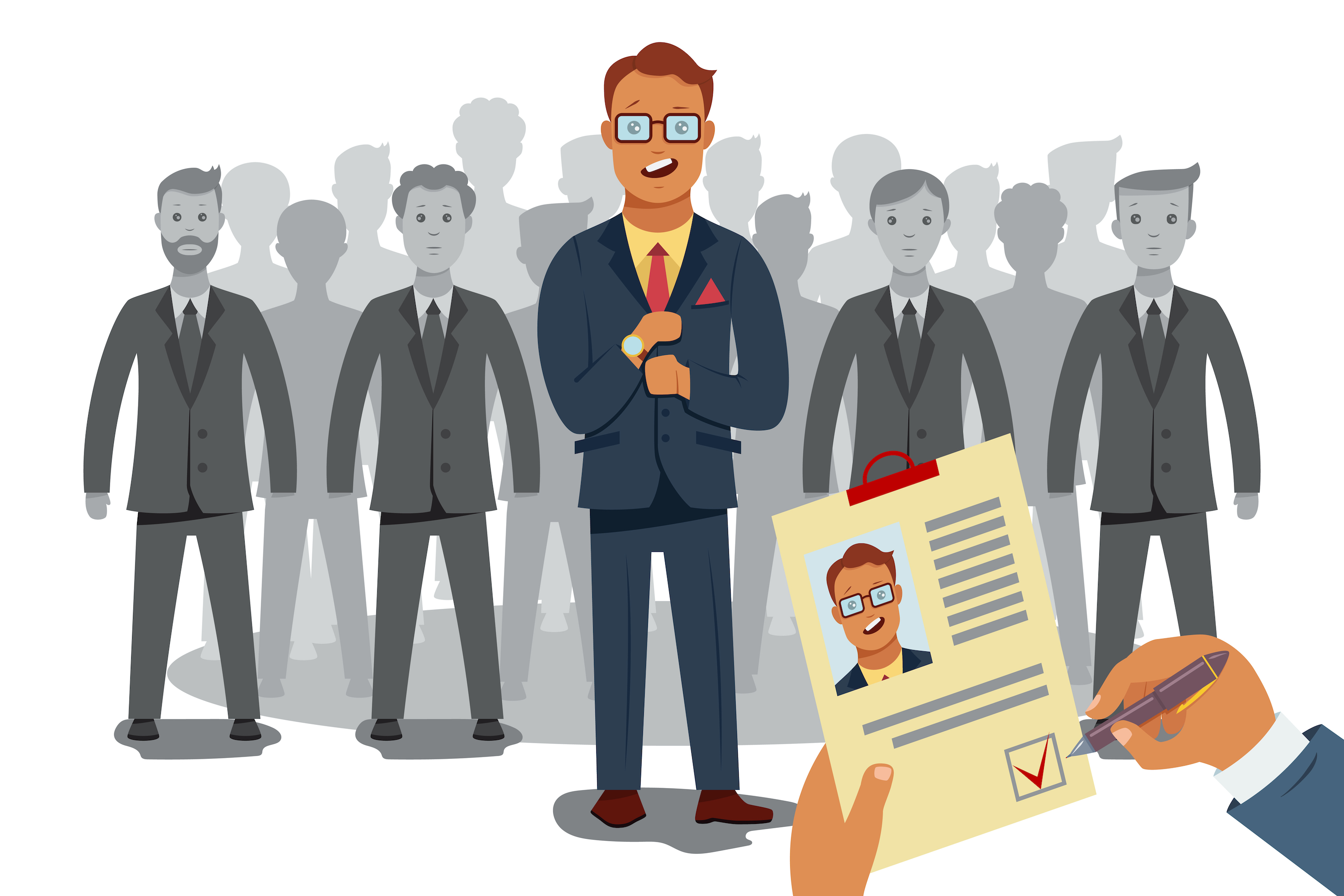Candidates for hire illustration