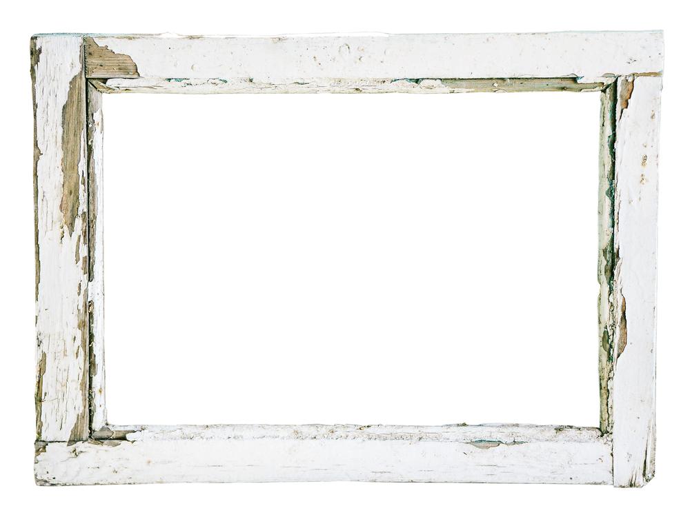 cracked window frame