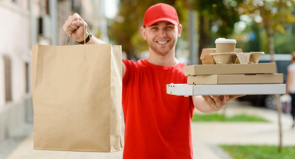 Restaurant Bringing delivery order