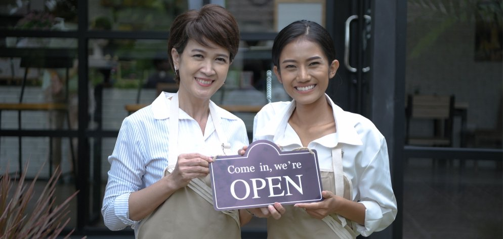 Restaurant Owners Happy Opening