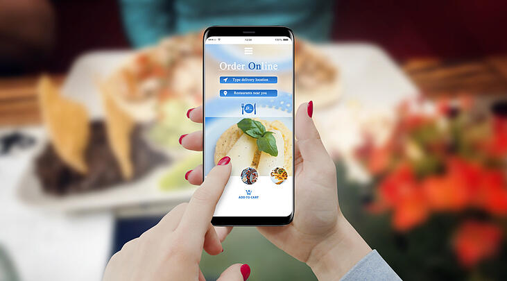 restaurant website on mobile
